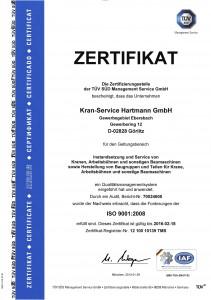 ISO 9001-2008 Zertifikat
